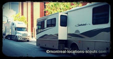 Montreal photo production transport logistics